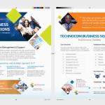 Business sales piece for Technocom